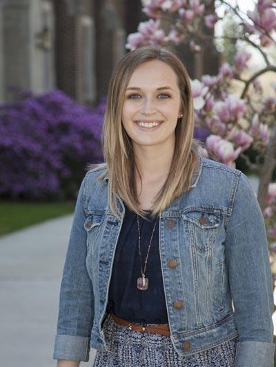 portrait of a woman in jean jacket