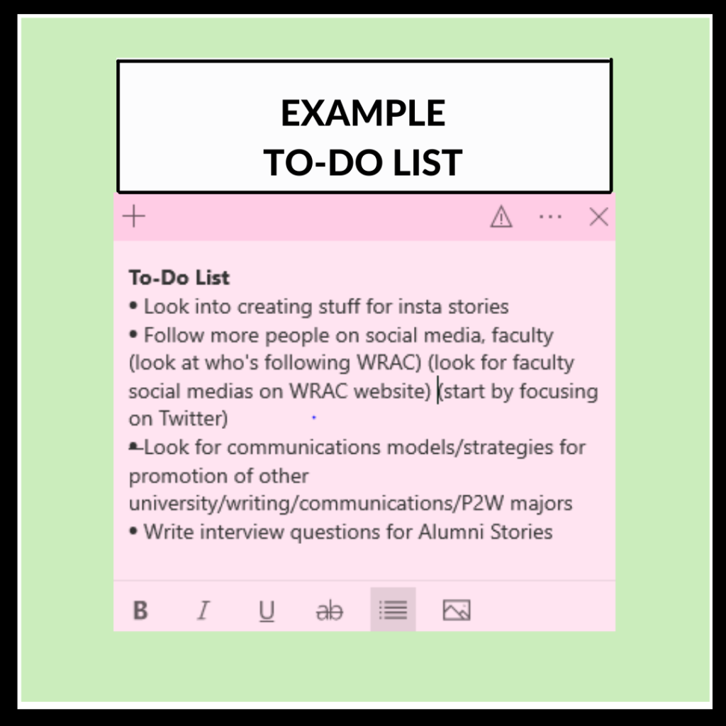 Example To-Do List