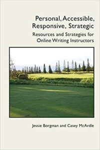 Book cover for Personal, Accessible, Responsive, Strategic, with an image of a green field bordered by trees