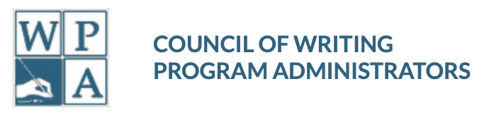 WPA logo with a hand holding a pen and the text Council of Writing Program Administrators